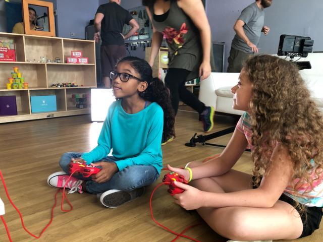 Kids playing gamebender