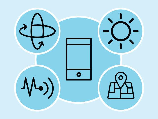 Icons representing Sensor API